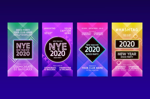New year instagram story pack