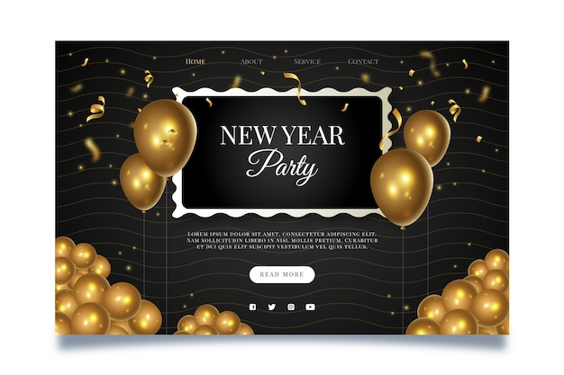 New year landing page template
