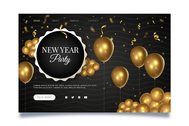 New year landing page