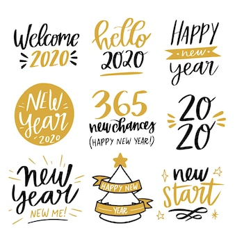 New year lettering collection