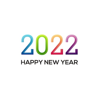 New year logo with colorful gradient. vector design template