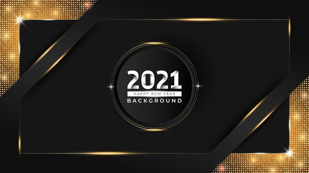 New year luxury background design with golden pattern