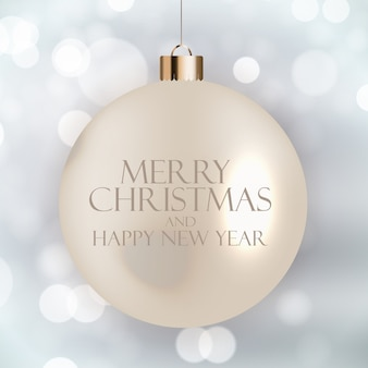 New year and merry christmas background
