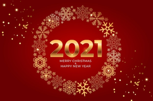 New year and merry christmas background.
