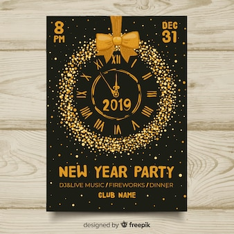 New year party 2019 banner