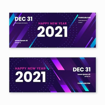 New year party banners template