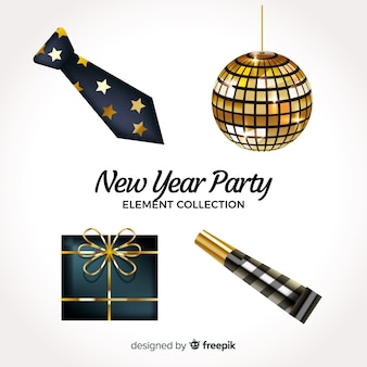 New year party element collection