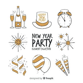 New year party elements collection