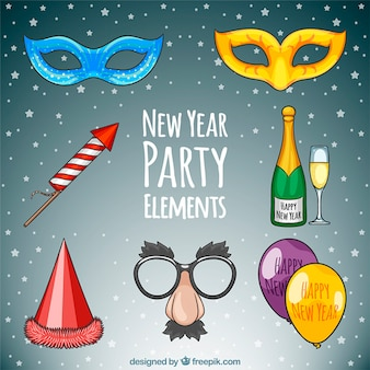 New year party elements