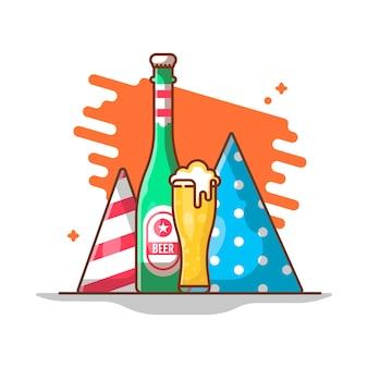 새해 파티 삽화.