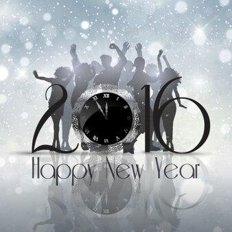 Новый год партия серебряных фон
