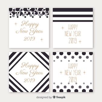New year plain cards pack