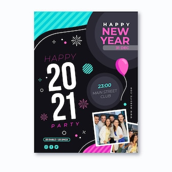 New year poster template