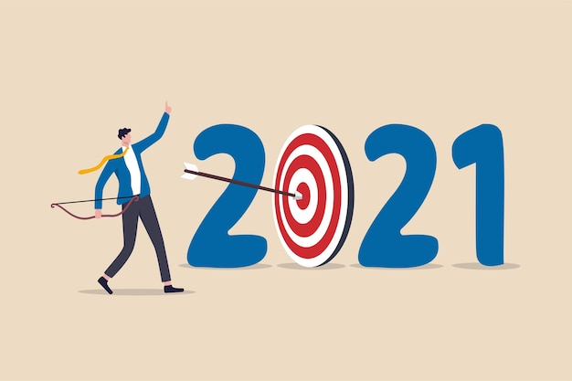 New year  resolution business strategy plan and goal achievement