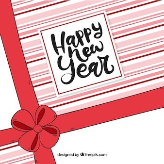 Новогодний фон с ручным рисунком
