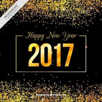 New year's golden background with glitter