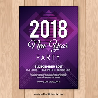New year's party abstract poster in purple
