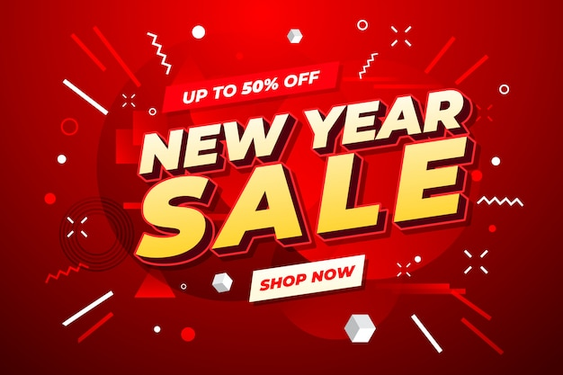 New year sale banner.