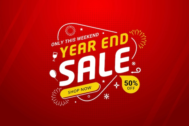 New year sale discount banner template promotion