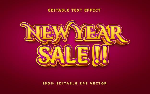 새해 판매 편집 가능한 텍스트 효과