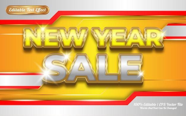 Новогодняя распродажа редактируемый текстовый эффект