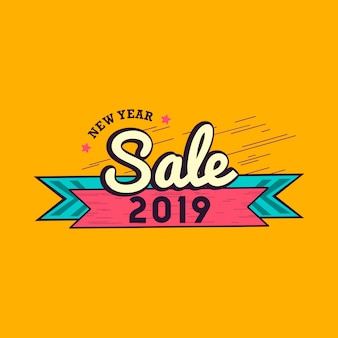 New year sale emblem