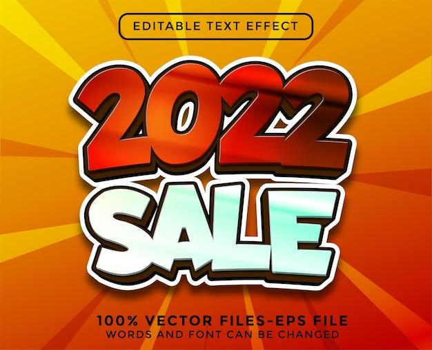 Новогодний текст продажи. редактируемый текстовый эффект премиум векторы