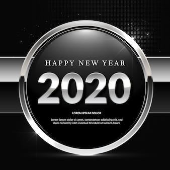 新年の銀色の背景
