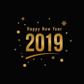 New year snow 2019 greeting background