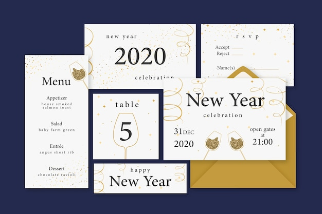 New year stationery collection
