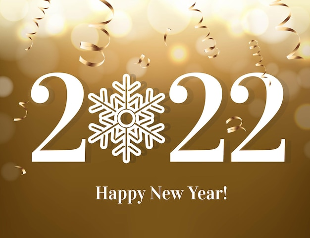 New year text with golden background
