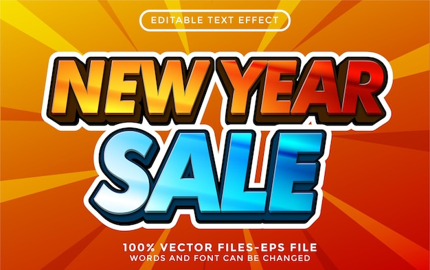 New year text with golden texture. editable text effect premium vectors