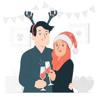 New year toastconcept illustration