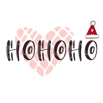 New year typographic icon with text ho ho ho
