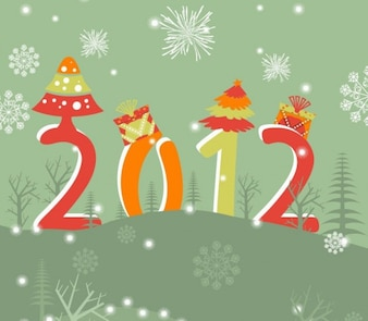 New year  vector illustration