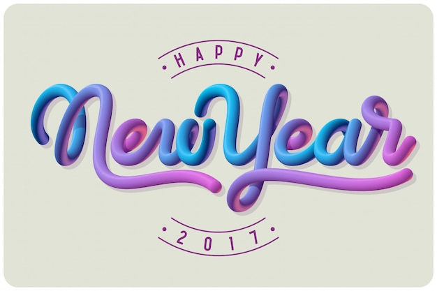 New year vector postcard