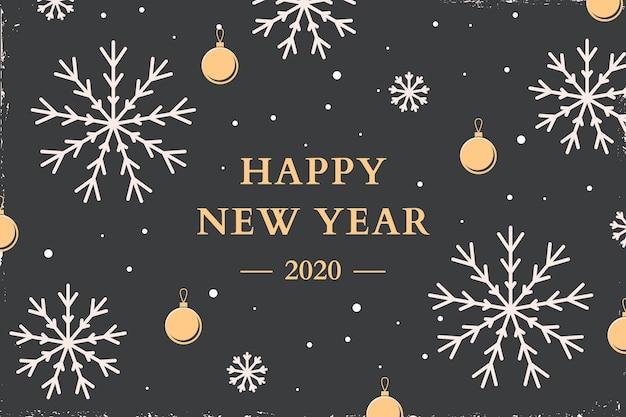 New year vintage background