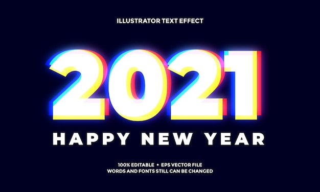 New year vivid abstract text effect