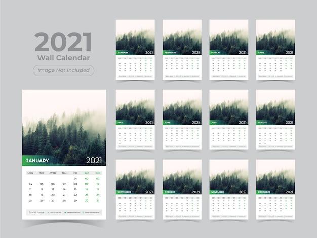 New year wall calendar