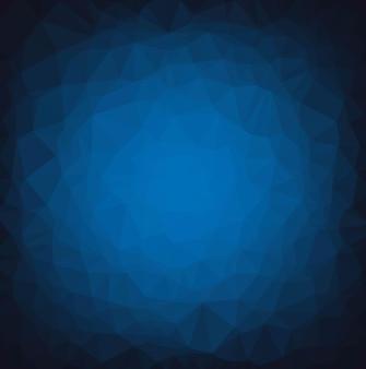 Новогодняя открытка с синим полигональным фоном