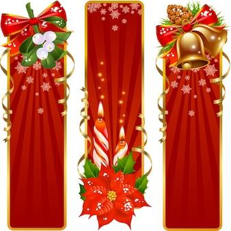 Новогодний шаблон поздравления и светлый фон векторные иллюстрации