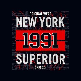 Джинсовая футболка и дизайн одежды new york 1991 superior