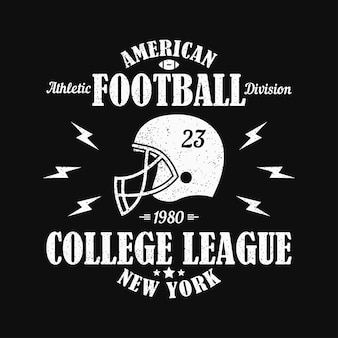 New york american football grunge print for sports apparel with helmet