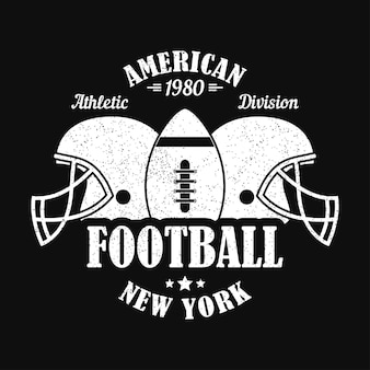 New york american football print for sports apparel with helmet and ball