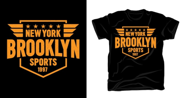 New york brooklyn sports typography design for t-shirt