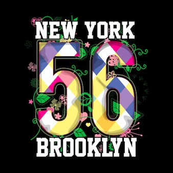 New york brooklyn t shirt graphic vector art