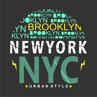 New york/brooklyn typography design