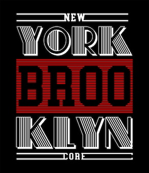 プリントtシャツのニューヨークブルックリンタイポグラフィ