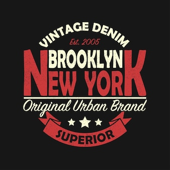 New york brooklyn vintage brand graphic for tshirt original clothes design with grunge