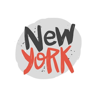 New york brush lettering.